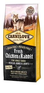 Carnilove Fresh Chicken & Rabbit Muscles, Bones & Joints for Adult dog 12kg