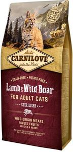 Carnilove Lamb & Wild Boar for Adult Cats Sterilized 6kg
