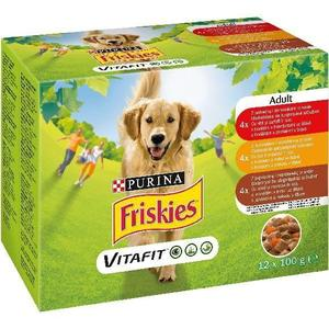 Friskies kapsa pes Adult 12pack Mix v želé 12x100g